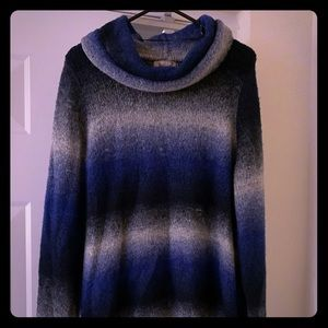 Sweater with oversized neck